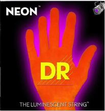 DR NEON NOB-45 Neon Orange Luminescent/Fluorescent Bass Guitar Strings 45-105